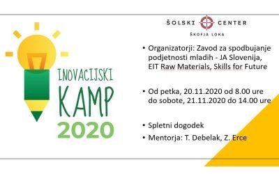 Inovacijski kamp – 20. in 21. november 2020