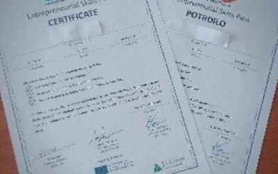Certifikat podjetniškega znanja – program JA Moje podjetje